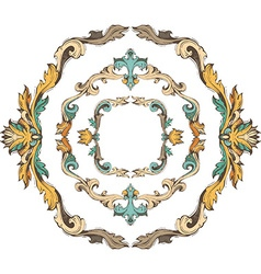 set of circle vintage frames vector image