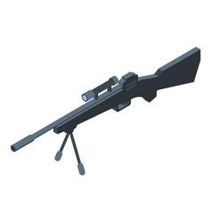 Sniper weapon gun icon isometric style vector