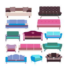 sofa set icon vector image