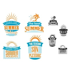 Summer vacation and travel designs vector image