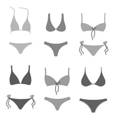Swimsuits outlined set vector