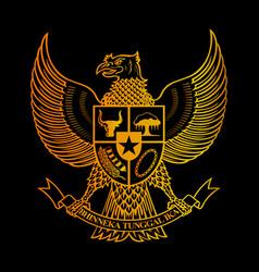 symbol heritage indonesian culture national logo vector image