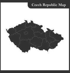 The detailed map of the czech republic vector