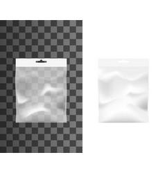 transparent pocket plastic bag isolated mockup vector image