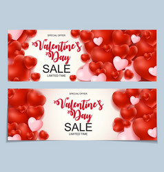 Valentines day sale discont card vector