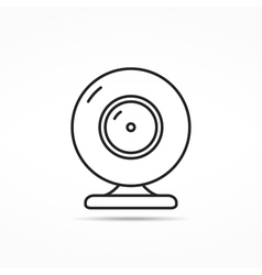 Webcam Line Icon vector
