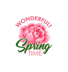 wonderful spring time badge vector image