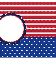 American flag background with stars symbolizing vector image