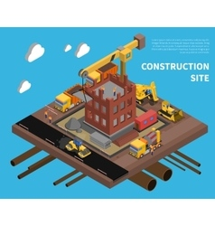 Construction Site vector image vector image