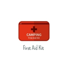 First aid kit flat icon Camping first aid box vector image