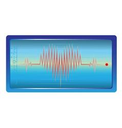 heart palpitations vector image vector image