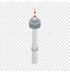 tower in seoul isometric icon vector image