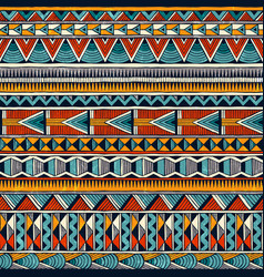 Tribal african ornament in vibrant colours vector