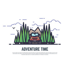 adventure time offroad vector image
