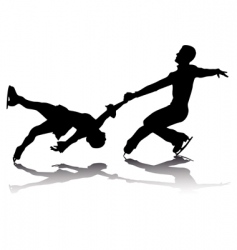 athletes skaters vector image