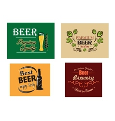 Beer advertising posters vector image vector image