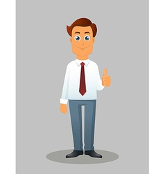 Businessman on a white background vector