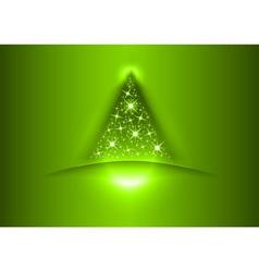 christmas tree star green vector image vector image