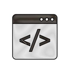 coding window web programming development vector image