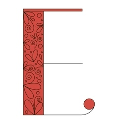 Decorative letter shape E vector image vector image