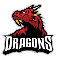 drago head mascot vector image vector image