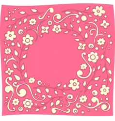 floral doodle vector image vector image