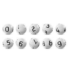 lotto bingo grey balls with numbers vector image vector image
