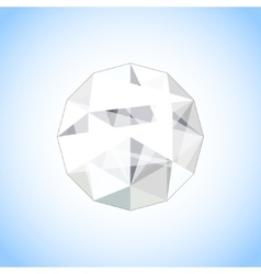 Realistic diamond jewel shaped Gem vector image vector image
