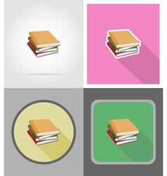School education flat icons 12 vector