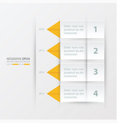 timeline report template yellow color vector image vector image