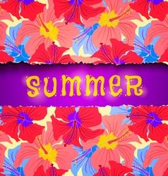 torn paper summer vector image vector image
