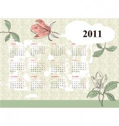 vintage calendar for 2011 vector image vector image