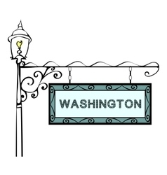 Washington retro pointer lamppost vector image