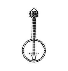 banjo jazz instrument musical festival celebration vector image vector image