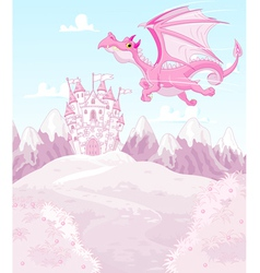 Magic dragon vector image