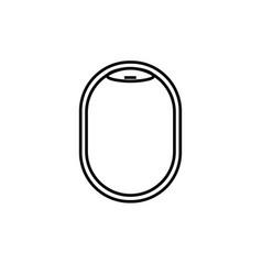 plane illuminator icon vector image