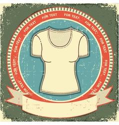 retro t-shirt label vector image vector image