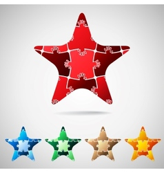 Star from puzzle pieces vector image vector image