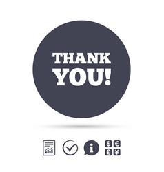 thank you sign icon gratitude symbol vector image