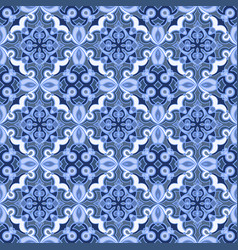 blue and white seamless pattern vector image vector image