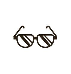 cartoon sunglasses accessory fashion icon vector image