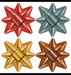 gift bow selection vector image