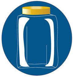 glass bottle-jar vector image