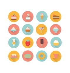 icons dessert vector image