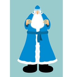 Russian Santa Claus in blue clothes New year old vector image vector image