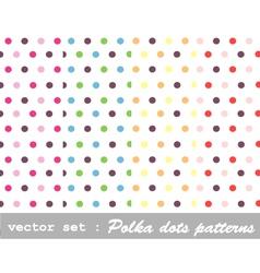 seamless patterns - polka dot set vector image
