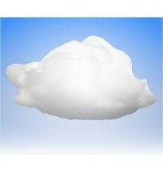 single cloud vector image vector image