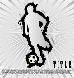 soccer silhouette break through white background vector image vector image