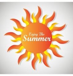 Summer sun cartoon vector image