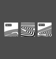 abstract black background with waves and swirls vector image